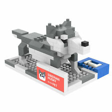 Siberian Husky - ANSBRICK BLOCK PET.8. Building, Learning - Nanoblock compatible