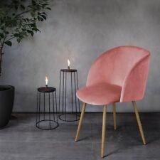 1er Silky Samt Akzent Sessel für kleine Küche Esszimmer Büro Home Rose Pink