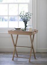Stylish Raw Oak Butlers Table / Trolley