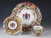 "Capodimonte ""Au Roi de Rome Naples 1811"" ARMORIAL Cup, Saucer + 7 3/8"" Plate"