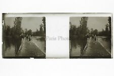Baignade Photo Amateur Plaque de verre stereo ca 1920