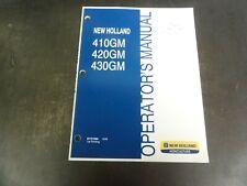 New Holland 410gm 420gm 430gm Flex Wing Finish Mower Operators Manual 87757960