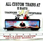 HO CUSTOM LETTERED TRUMP THE CHOSEN ONE 2020 COLLECTIBLE REEFER  LOT F