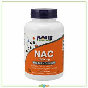 Now Foods NAC, N-ACETYL-CYSTEINE, 1000 mg 120 Tabs, Immune Support, Amino Acids