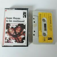 ISAAC HAYES TO BE CONTINUED CASSETTE TAPE 1971 YELLOW PAPER LABEL STAX UK