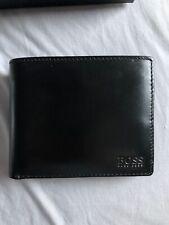 Hugo Boss 50322175 Homme cartes de crédit en cuir véritable Portefeuille-Noir