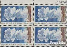 US 1060PN met Nummerplaat Blok van vier postfris MNH 1972 Yellowstone-Nationaal