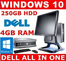DELL all-in-one ORDENADOR PC ✔ 250GB HDD ✔ 4gb RAM ✔ 43cm TFT Monitor ✔