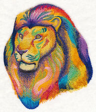 Embroidered Fleece Jacket - Vibrant Lion Watercolor M12163 Sizes S - XXL