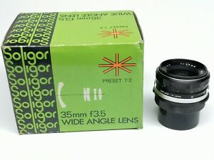Soligor 35mm F3,5 wide Angle Lens no dust or fungus in BOX!!