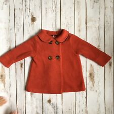 Mothercare Girls Red Winter Coat 12-18 Months Classic Vintage Style BNWT