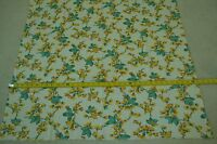 "44"" Long x 38"" Wide, Vintage 1950's Floral on Cream Feedsack Cotton, M5449"