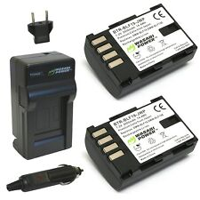 Wasabi Power Battery (2-Pack) and Charger for Panasonic DMW-BLF19 and Panason...
