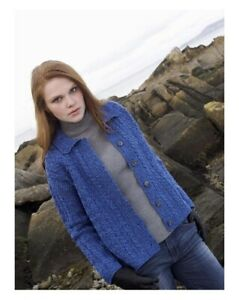 Aran Crafts Irish Merino Wool Merino Button Collar Sweater