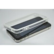 CUSTODIA COVER BUMPER PER APPLE IPHONE 4 4S TPU BIANCA CON TASTI METALLICI