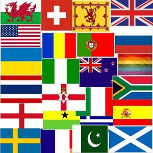 Large 5ft x 3ft Country Flags World Cup Sports Football Rugby Sports Olympics