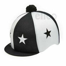 Capz Skull Cover Horse Riding Hat Helmet Lycra Silk OSFA Black-Navy-Purple-Royal