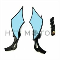 Black TEARDROP CUSTOM REAR MIRRORS FOR HONDA MOTORCYCLE CRUISER CHOPPER 8-10MM