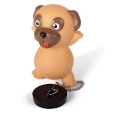 Pug Dog Light Up Bath Plug Bathroom Sink Chain novelty