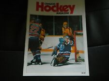 1986 Vancouver Canucks program vs edmonton oilers GRETZKY vol.17 no.6  oct.31 Ex