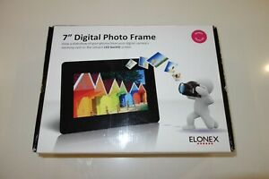 """ELONEX 7"""" DIGITAL LED PHOTO FRAME - BOXED WITH STAND ADAPTER"""