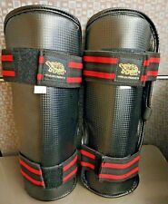 Long Life products Martial Arts Shin Guards Protectors Black Size Large One Pair