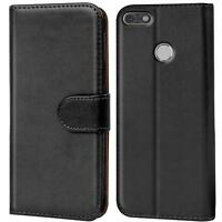 Handy Hülle Huawei Y7 2018 Case Schutz Tasche Cover Wallet Flip Etui Bookcase