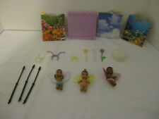 Set of 3 2006 Mattel Babies Fairies Angels Infant Dollhouse Fisher Price w acc.