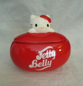 JELLY BELLY CANDY CO. HELLO KITTY CERAMIC CANDY/TRINKET BOX 2013