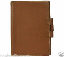 AUTHENTIC Hermes Epsom Brown Leather Agenda Note Cover Small