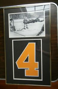 24X14 Bobby Orr Signed Stanley Cup Picture With Jersey Number Faded Autograph