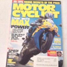 Motor Cyclist Magazine Honda CBR1000RR Kawasaki ZX October 2006 061417nonrh