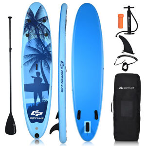 10' Inflatable Stand Up Paddle Board W/Carry Bag Adjustable Paddle Adult Youth