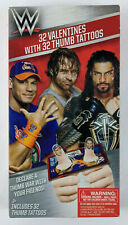 Wwe 32 Valentines with Thumb Tattoos Kids School Valentine's Day Cards Wrestling