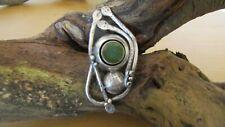 Emerald Designers Unique Handmade Jewellery 925 Silver Agate Ring