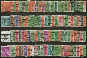 INDIANA PRECANCELS, COLLECTION, 676 DIFFERENT