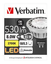Commercial 10x Verbatim LED Light Globe MR16 GU5.3 8W 530lm WW 35Deg Dim # 52356