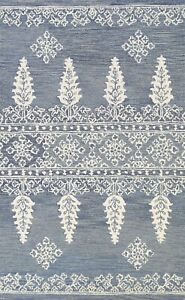 5'x8' Geometric Assorted Oriental Area Rug Transitional Hand-tufted Foyer Carpet