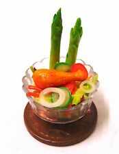 1:12 Handmade Chicken Salad In A 2cm Plastic Dish Dolls House Kitchen Accessory