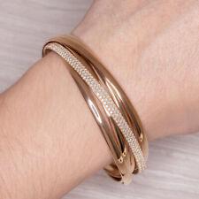 TIFFANY & CO 2.69ct DIAMOND 18K ROSE GOLD BANGLE BRACELET PALOMAS MELODY PICASSO