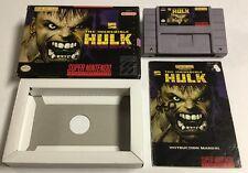 Marvel The Incredible Hulk for Super Nintendo SNES CIB Complete In Box Rare