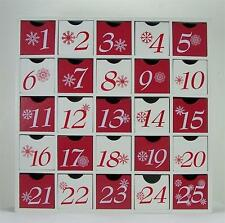 Wood Box Perpetual Advent Calendar Christmas Decoration 25 Empty Drawers