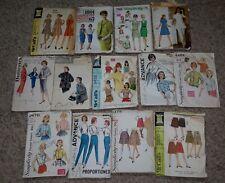 VINTAGE 50s 60s SEWING PATTERN LOT - SIMPLICITY MCCALLS  DRESS COAT BLOUSE SKIRT