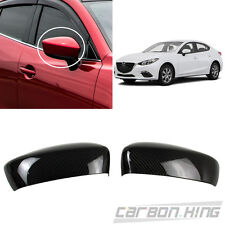 Dry Carbon For Mazda 3 3rd 4D 5D Side View Mirror Cover Trim 2 Pcs 2016