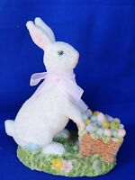 Midwest WHITE RABBIT Alice in Wonderland Colored Egg Cart Glass Sparkle ❤️J8