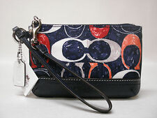 NWT COACH LEGACY HERITAGE SIGNATURE C SMALL WRISTLET 48027 NAVY MULTICOLOR HTF