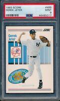 1993 Score Baseball Derek Jeter ROOKIE #489 PSA 9 YANKEES MINT HOF