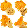 4X Halloween Cookies Plunger Cutter Fondant Cake Mould Biscuit Sugarcraft Mold