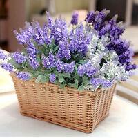 Artificial Lavender Fake Silk Flower Bouquet Wedding Party Garden Home Decor