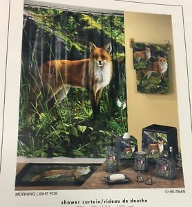 "Brand New Morning light Fox Hautman Brothers Vinyl Shower curtain 70"" x 72"""